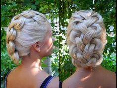 Peinado; Trenza con Nudos /Hairstyle, Braids with knots
