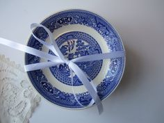 Beautiful Blue and White Vintage Willow Style by thechinagirl, $36.50