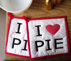 I Heart Pie Potholders