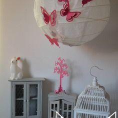 Luminaires suspensions abat jour chambre enfant b b on pinterest - Suspension luminaire rose ...