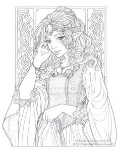 Anime elf warrior coloring pages file name anime elf warrior coloring - Exotic Fairy Coloring Pages Submited Images