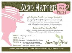 Mad Hatter Tea Party Invitation charity fundraiser
