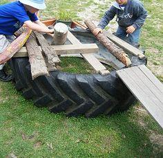 "Tyres, logs & planks ("",)"