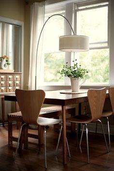 dining room inspiration..love the chairs
