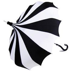 Bella Umbrella Black and White Pinwheel