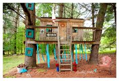 I had a tree house at my grandpa's house growing up and I will make sure my kids have one too! Best idea ever