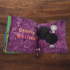 FUN WITH FEATHERS DIY: A QUIET BOOK OF BIRDS #thefeatherplace #feathers #orneryostrich