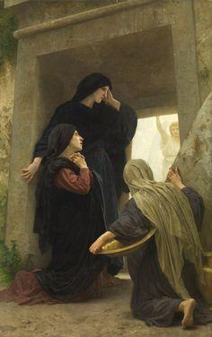 William Adolphe Bouguereau (1825-1905)  Le Saintes Femmes au Tombeau  Oil on canvas