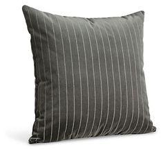 Velvet Striped Graphite Pillow - Pillows - Accessories - Room & Board