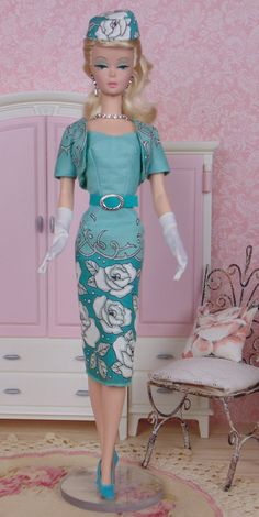 Peacock Blue for Silkstone Barbies by HankieChic on Etsy