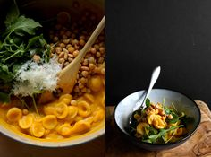 butternut orecchiette with arugula