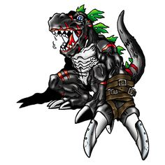 DarkTyrannomon -Champion level Dinosaur digimon