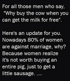 I love bacon but I ain't marrying it
