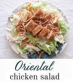 The EASIEST oriental chicken salad you will ever make! (Inspired by Applebees), few ingredients and requires little prep! Light dinner!