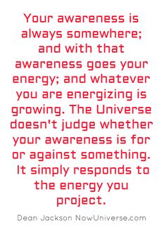 awareness and energy