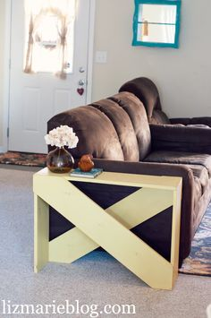 decor, project, idea, apartment crafts diy, hous, lizmarieblogcom, furnitur, board, diy pallet end tables