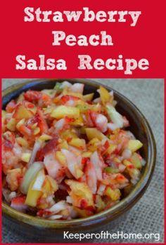 Strawberry Peach Salsa Recipe