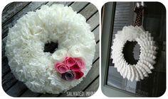 Coffee Filter Wreath Tutorials