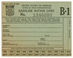 gasoline rationing card from 1942