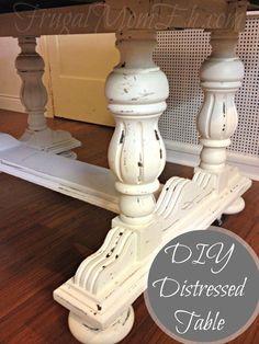 Frugal Mom Eh!: DIY Distressed Table