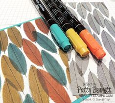 Stampin UP tip: grab Stampin' Write Markers or Blendabilities markers and color on the Back to Black Designer Series Paper (DSP) for a whole new look!