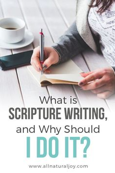 Scripture writing is