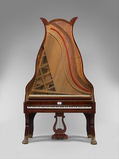 Lyraflügel, a type of upright piano made almost exclusively in Berlin, ca. 1820-1844