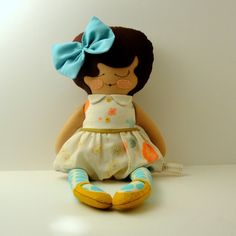 A cute handmade felt doll from etsy! I wonder if I could make this?