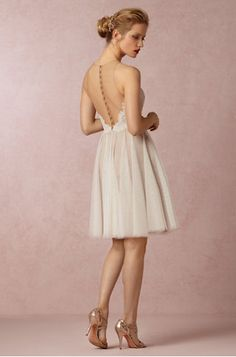Short Backless Wedding Gown