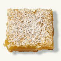 Lemon squares- 34 calories a square    I must try this!!! I LOVE lemon bars!!!