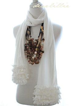 sew, ruffle scarf, style, cloth, necklac, accessori addict, scarves, craft project, diy