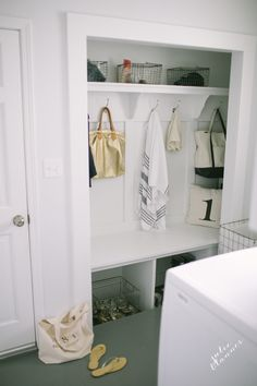 Inexpensive & practical mudroom makeover full of practical details