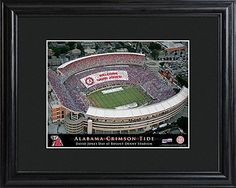 Personalized College Football Stadium Print with Wood Frame - a cool gift idea for a High School graduate heading to college in the fall!