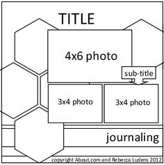This would be a fun layout to do! Free Hexagon Scrapbook Page Sketch