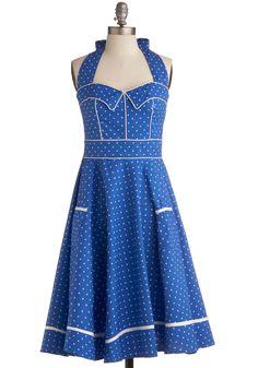 Blueberry Buckle Dress, #ModCloth