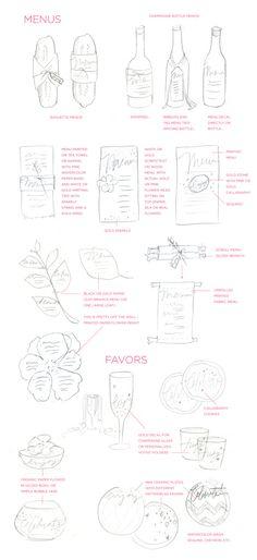 Menu & Favor Ideas