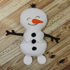 Happy Snowman Softy Doll Plush by LittleDeMouraDesigns on Etsy, $19.00