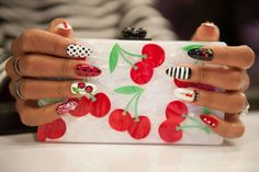 This cherry nail design is super juicy!