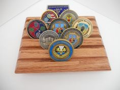 Military Challenge Coin Display Rack Coin Holder by LoneStarWood, $14.99