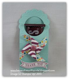 Stampin' Up!  by Nicole Tugrul at Be Creative With Nicole:  Two Tags Treat Holder