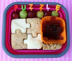 Puzzle bento box lunch