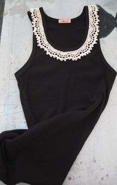 cute way to embellish a simple tank top