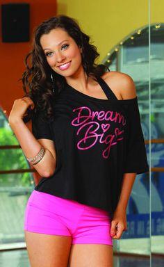 dream big, dreams, danc, shoulder tee