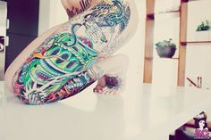 sexi ink, color robot, colors, awesom art, girl tattoo, tattoo art, blog, art check, sexi art