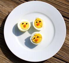 boiled egg chicks fun food, boil egg, chick egg, boiled eggs, easter eggs, easter food, deviled eggs, 4 kids, devil egg