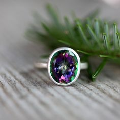 Mystic Topaz Gemstone Ring by onegarnetgirl, $188.00