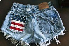 High waist destroy denim shorts super frayed by VIntagedenimcorner, $59.95