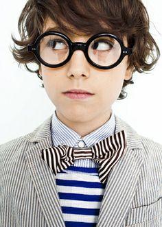 Little fashionistas kids style high fashion couture stripes