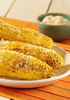 ... break out your grill and try this Parmesan Garlic Grilled Corn recipe