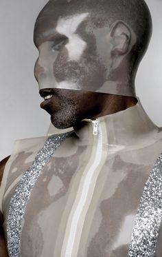 Danny Deluxe Alien boy in latex top with glitter! DD style #rubber #dannydeluxecouture #dannydeluxe #latex